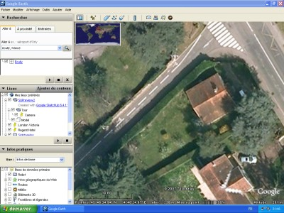The garden in Google Earth