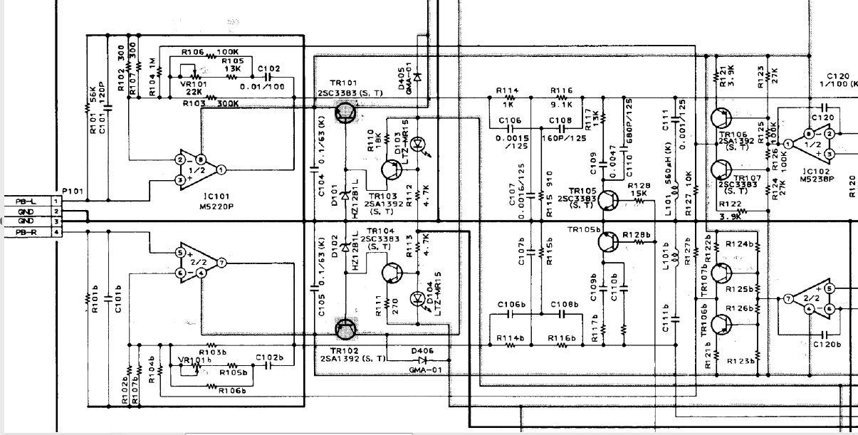 Akai GX-95 Tapedeck knackt in den Lautsprechern