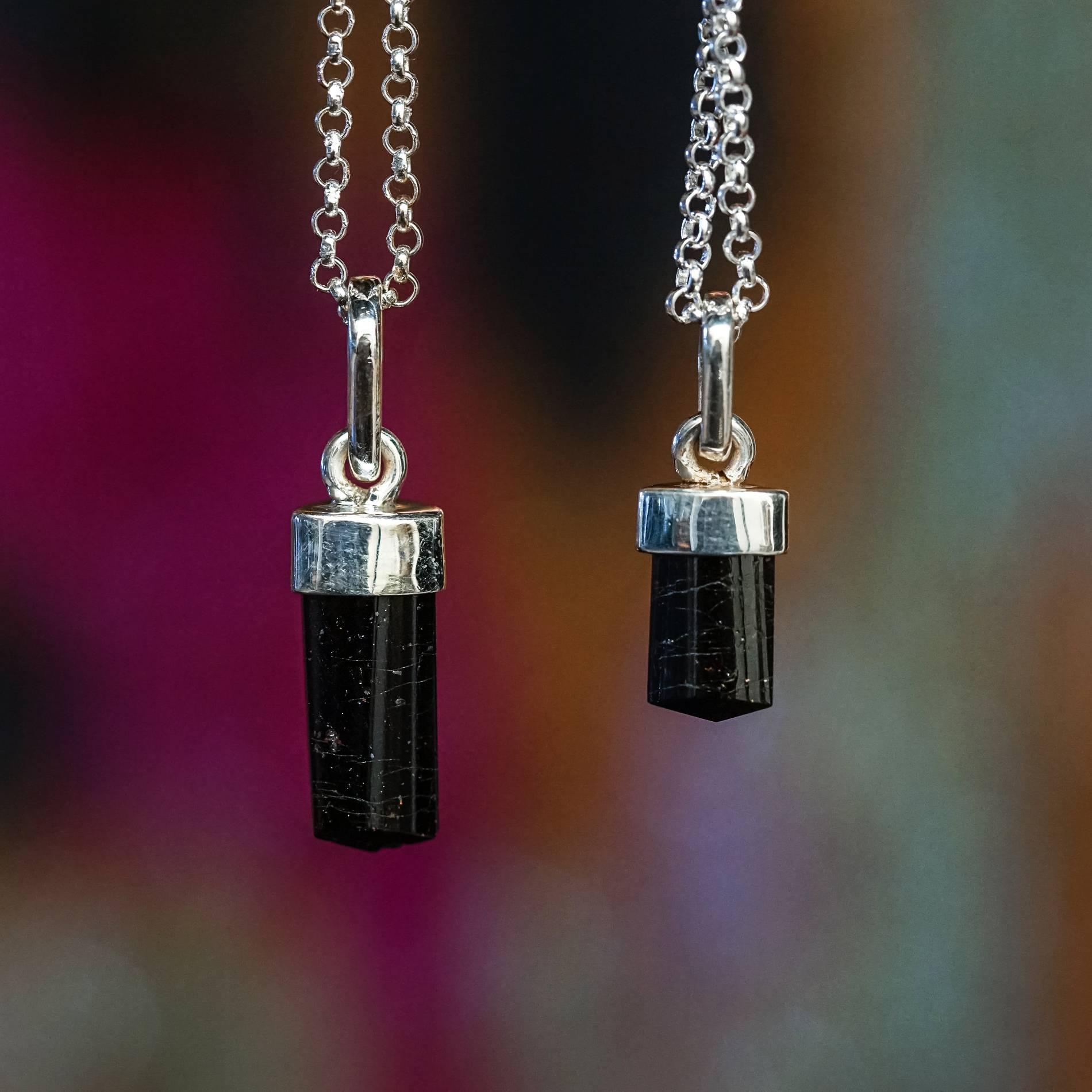 hight resolution of Grade A Black Tourmaline Pendants for supreme gem protection