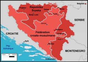 Carte Bosnie