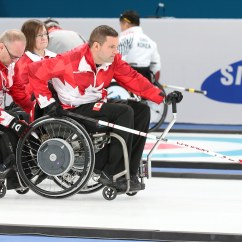 Wheelchair Fight Union Terrace Chairs Canadian Paralympians Back To Beat Sweden Curling Canada Pyeongchang Korea 11 3 2018 Plays In