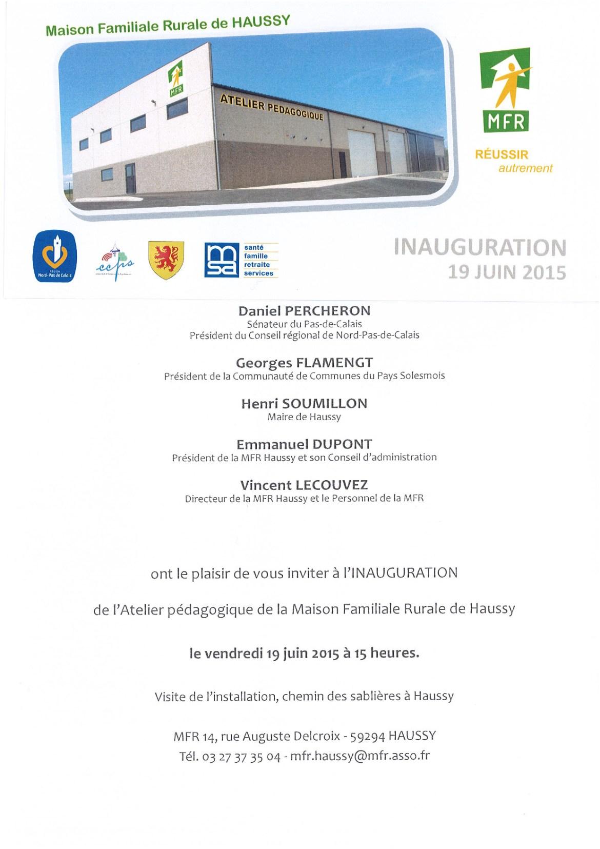 inauguration atelier 19 juin