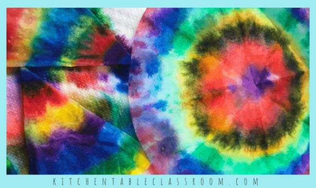 Coffee filters dyed a rainbow of colors