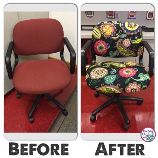 classroom organizer chair covers reupholster office arms 21 upcycling hacks for the weareteachers img 3887