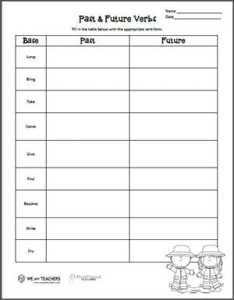 Verb tenses preview also free printable tense worksheet grades  weareteachers rh