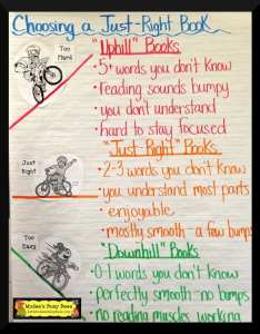 just right book also anchor charts for reading elementary school rh weareteachers