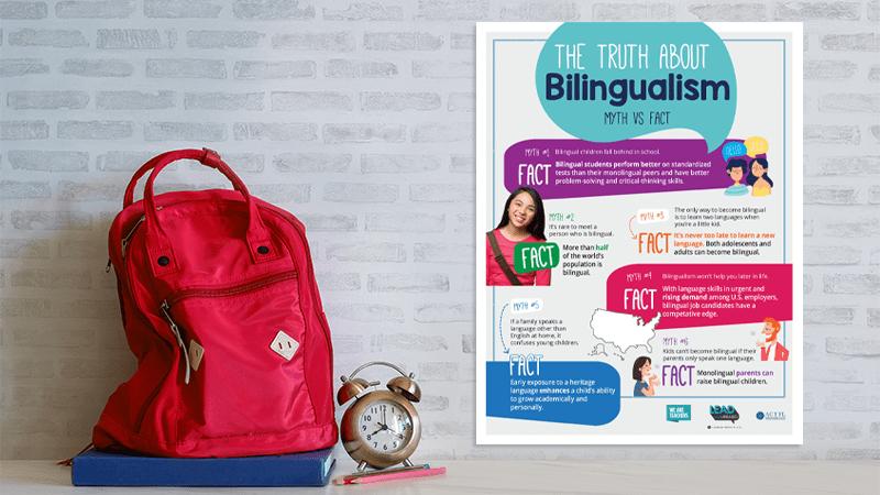 bilingualism poster myths vs