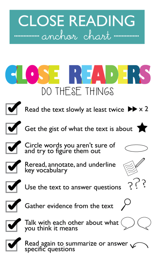 small resolution of 23 Close Reading Anchor Charts That Will Help Your Students Dig Deep