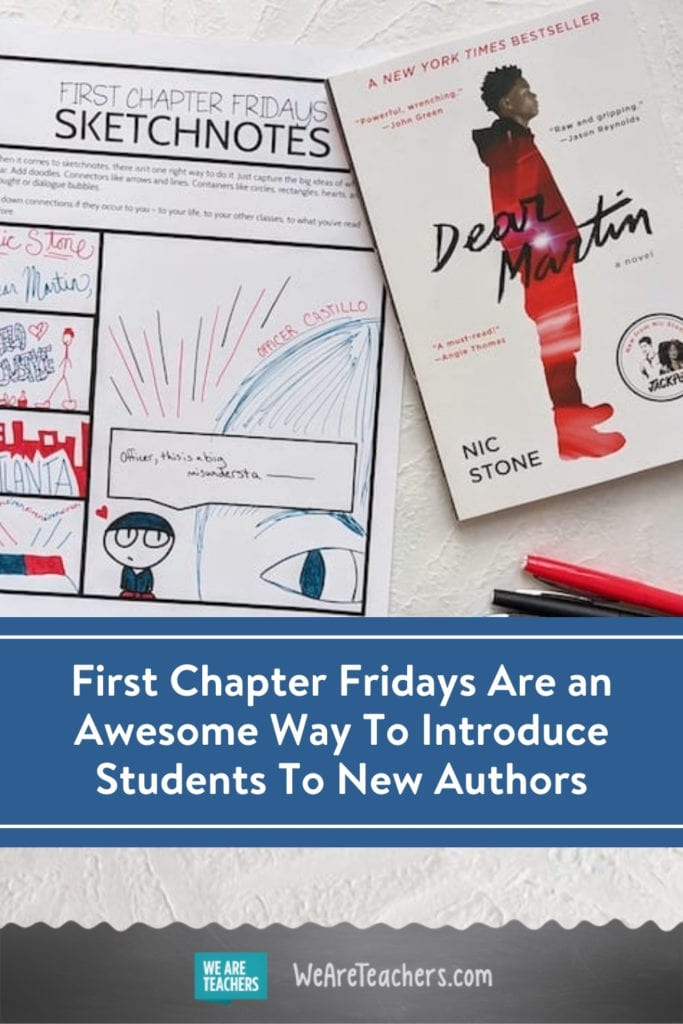 First Chapter Fridays Are an Awesome Way To Introduce Students To New Authors