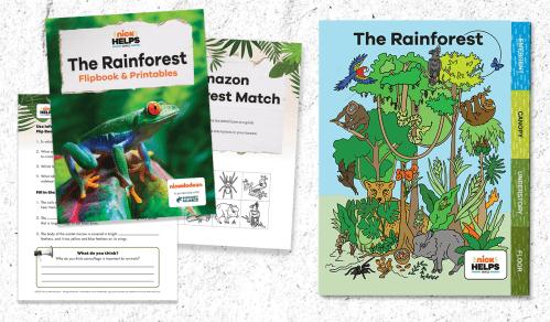 small resolution of Printable: Rainforest Animal Flipbook for Grades 3-5 -