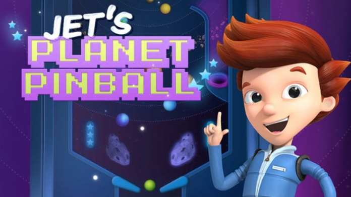 Still of Jet's Planet Pinball game for students