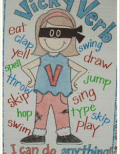 Vicky verb also awesome first grade anchor charts that we can   wait to use rh weareteachers