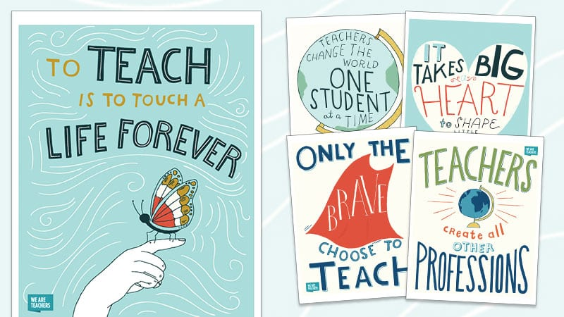 free inspirational teaching posters