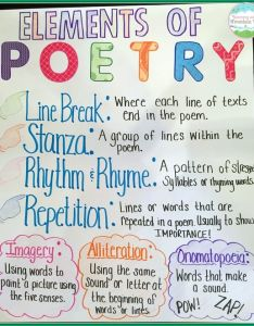 poetry explainer also anchor charts for reading elementary school rh weareteachers