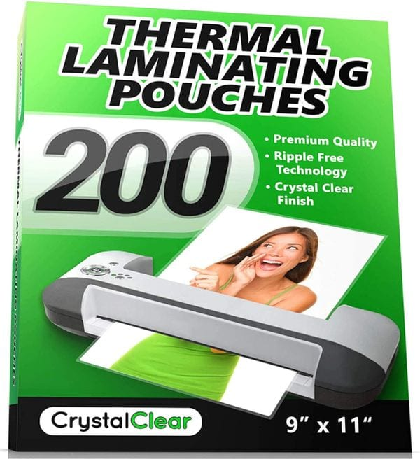 Crystal Clear Thermal Laminating Pouches