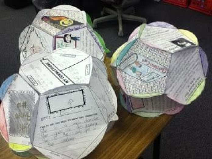 a paper ten sided ball book report