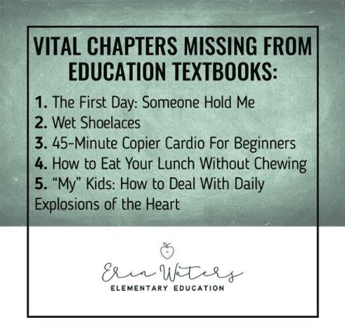 Vital chapters missing from education textbooks -- #teachertruths