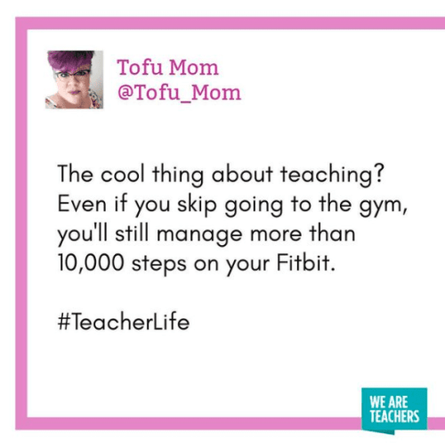 The cool thing about teaching?