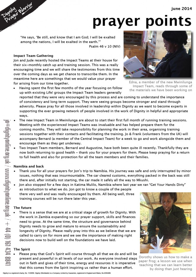 2014 06 prayer points
