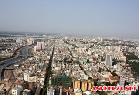 Toàn cảnh TP HCM nhìn từ trên cao đẹp tuyệt vời