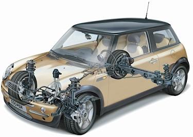 mini cooper suspension diagram stereo wiring for 2002 ford explorer 2013 alignment spec