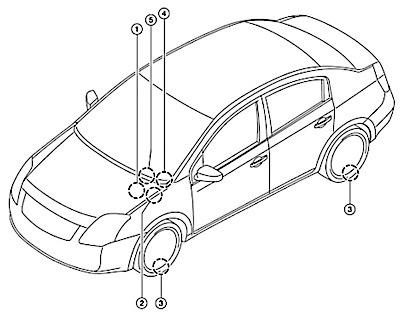 Nissan Altima 2009 Tire Pressure Sensor