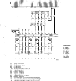 wiring diagram for the injectors http s2 audi co uk workshop schema i 7a page3 png [ 1414 x 2000 Pixel ]