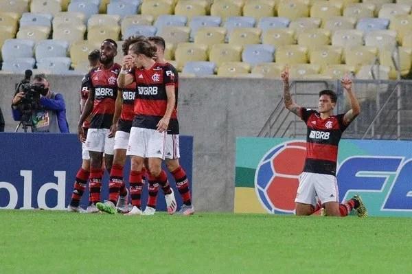 Gol Pedro, Flamengo x Boavista — Foto: RUDY TRINDADE/FRAMEPHOTO/ESTADÃO CONTEÚDO