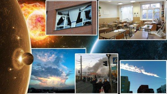 VIDEO kadras: Meteoritas virš Čeliabinsko