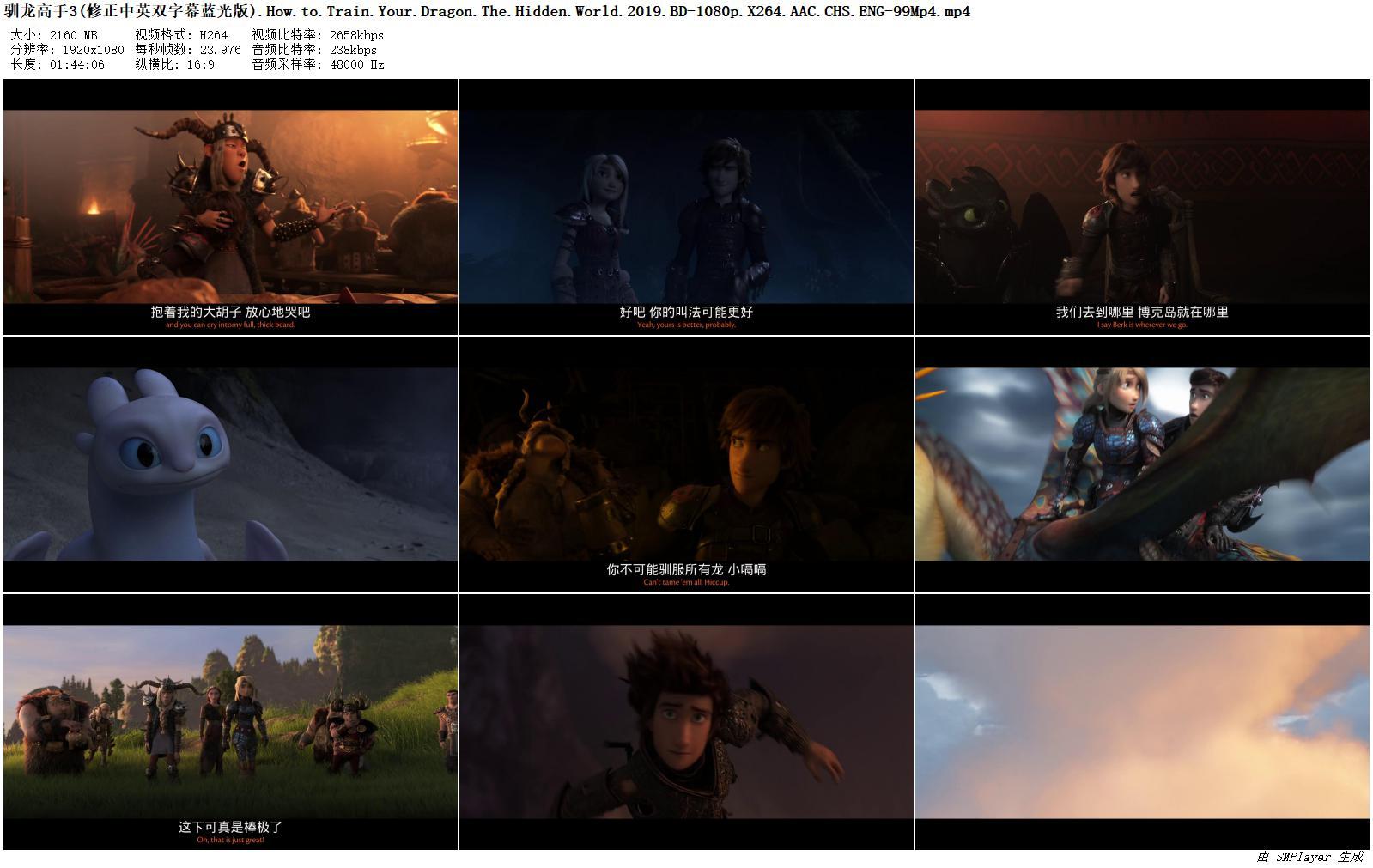 [BT下載][馴龍高手3:隱秘的世界][BD-MP4/2.1G][藍光中英雙字幕][1080P] 電影 2019 歐美 動畫 有水印