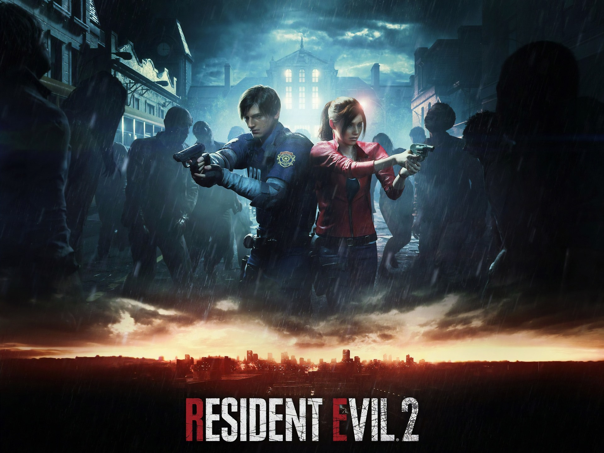 Destiny Iphone X Wallpaper Wallpaper Resident Evil 2 Remake Ps4 Game Rain Zombies