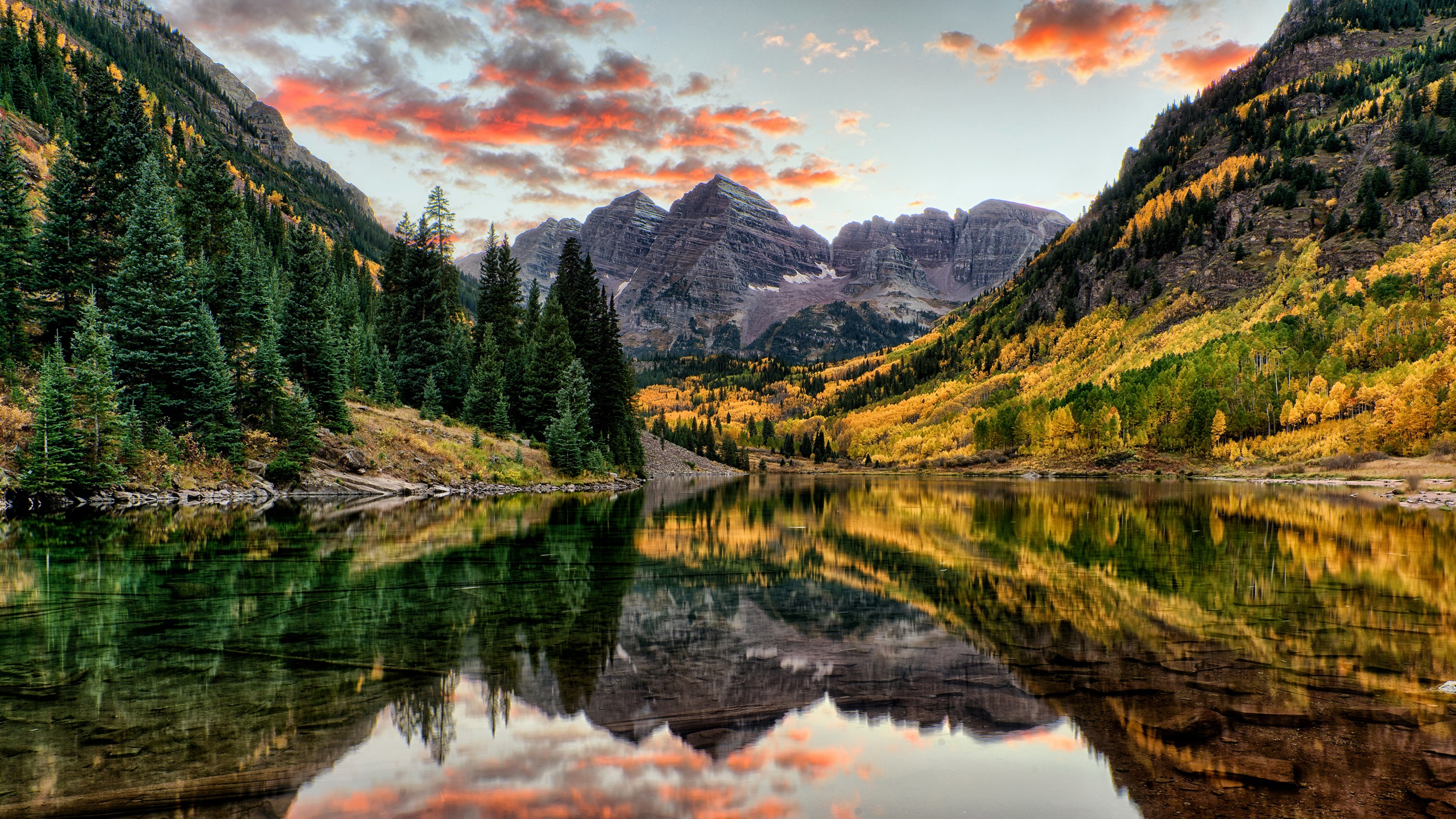 Beautiful Fall Location Wallpapers Wallpaper Maroon Bells Mountains Trees Lake Autumn