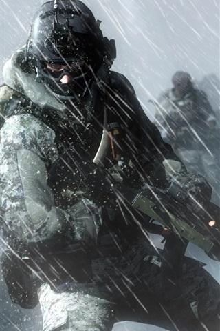 Battlefield 3 Iphone Wallpaper 壁纸 战地4,战士,在雨中行动 1920x1080 Full Hd 2k 高清壁纸 图片 照片