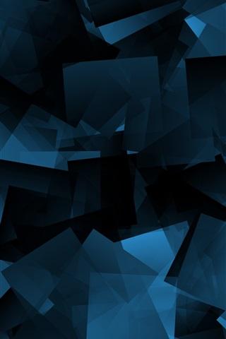 Iphone 5 Hd Wallpaper Abstract 壁纸 蓝色形状,抽象,黑色背景 3840x2160 Uhd 4k 高清壁纸 图片 照片