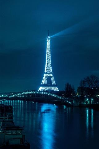 Fondos de pantalla Torre Eiffel ro puente camino