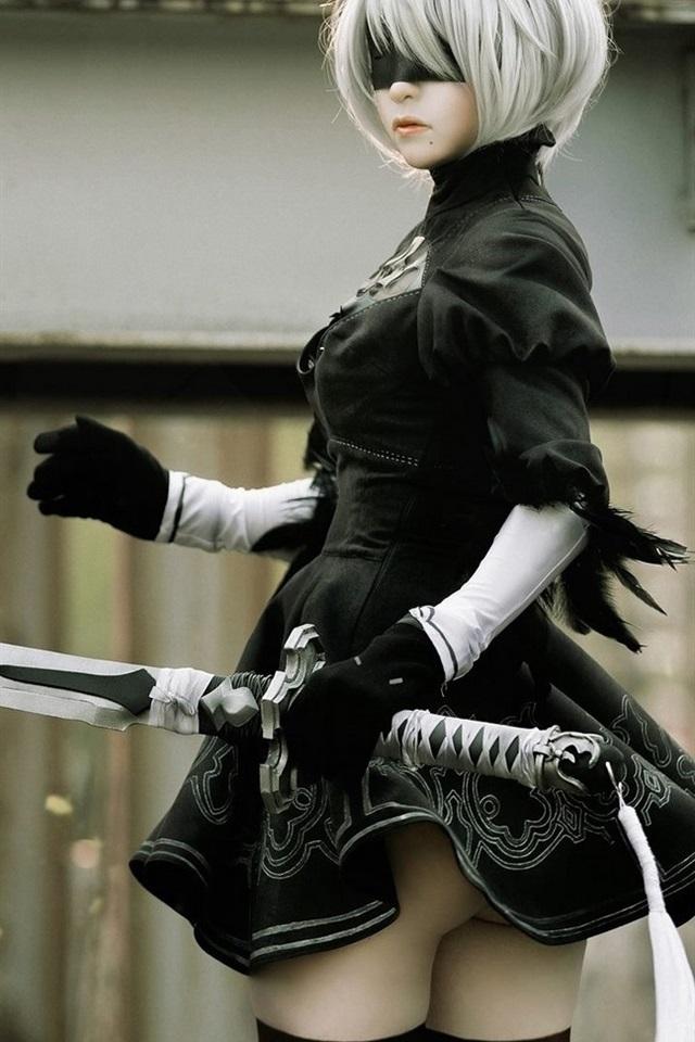 Girl Hd Wallpaper Image 壁纸 尼尔:机械纪元,角色扮演的女孩,剑,yorha 2号b型 1920x1080 Full Hd 2k 高清壁纸