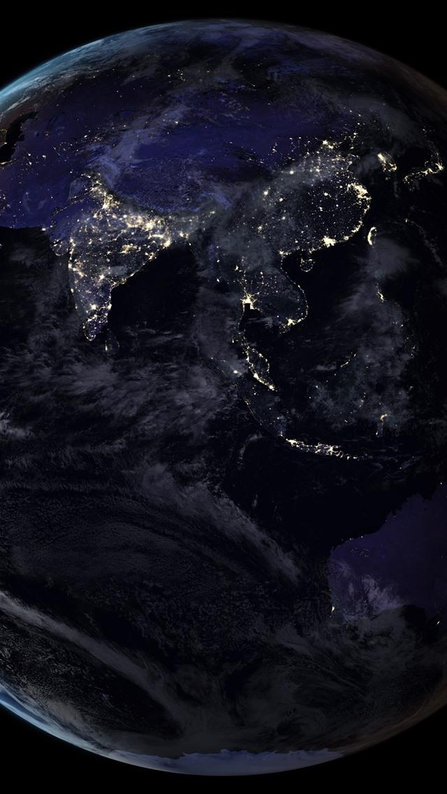 Space Phone Wallpaper Hd 壁纸 地球,光,黑色背景,太空 5120x2880 Uhd 5k 高清壁纸 图片 照片