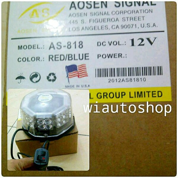 lampu rotator bulat beacon led america signal
