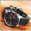 Swiss Army 24070ssbcrk dial red ring silver