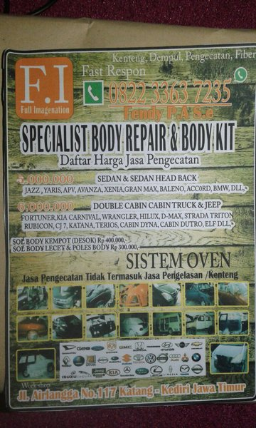 cat mobil poles las body kit FI body repair sistem oven