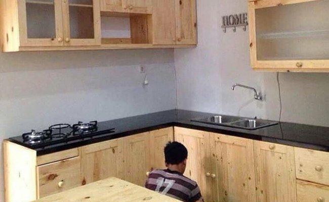 Jual Lemari Dapur Kitchen Set Full Kayu Jati Belanda