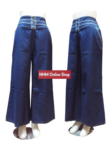 Celana kulot jeansAlma celana panjang kulot jeans