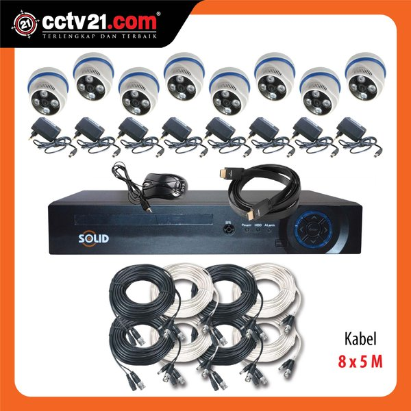 PROMO PAKET SOLID 8CH CCTV ASLI FULL HD 2.0MP  DVR FULL HD 5 In 1 MADE IN TAIWAN