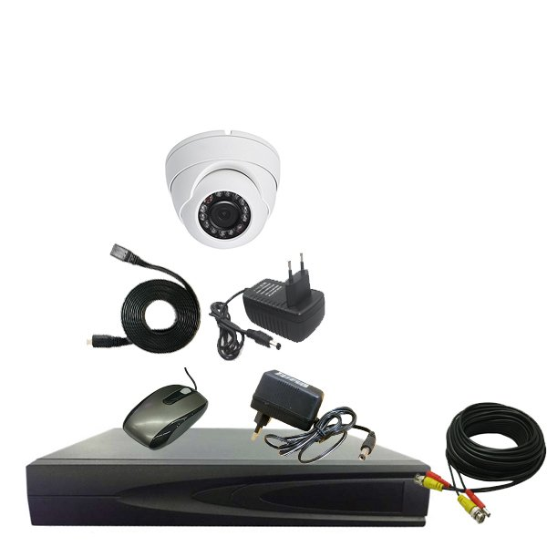 PROMO PAKET CCTV 1 CAMERA IN 1.3mp - DVR 4CHANEL