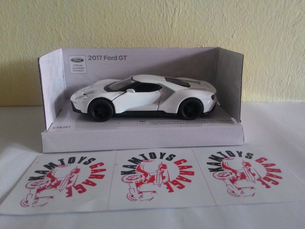 Kinsmart Ford Gt  White