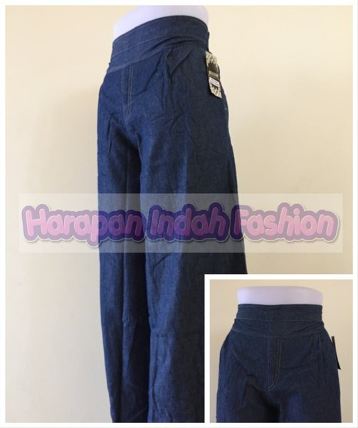 Celana Panjang Kulot Wanita Bahan Jeans CK03