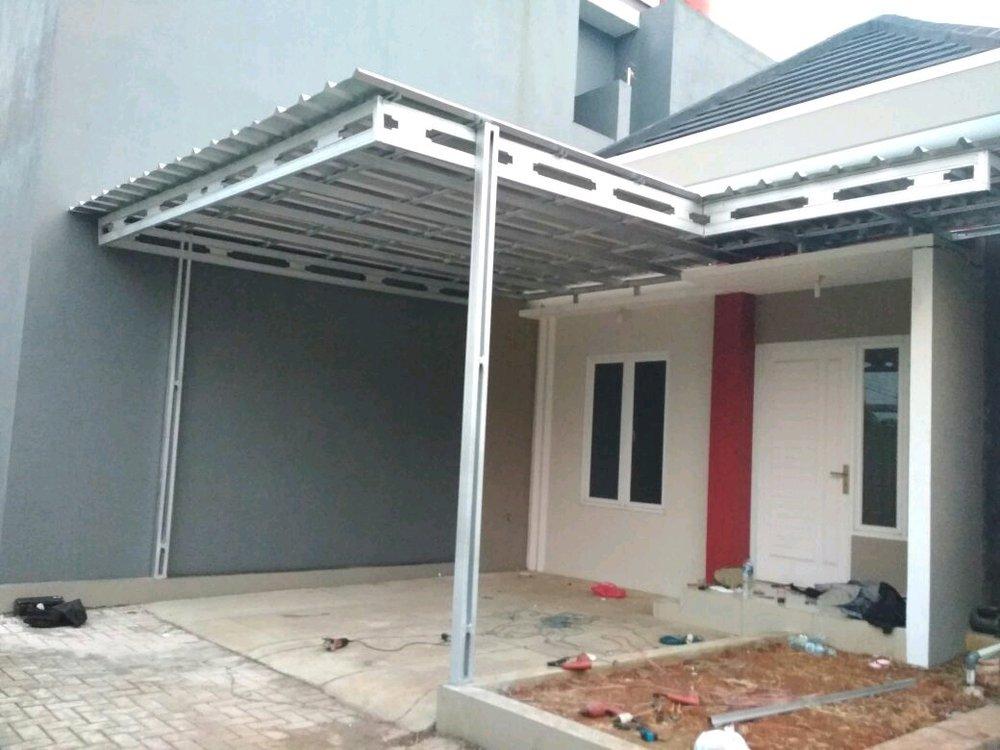 contoh kanopi baja ringan atap spandek jual dan rangka di lapak