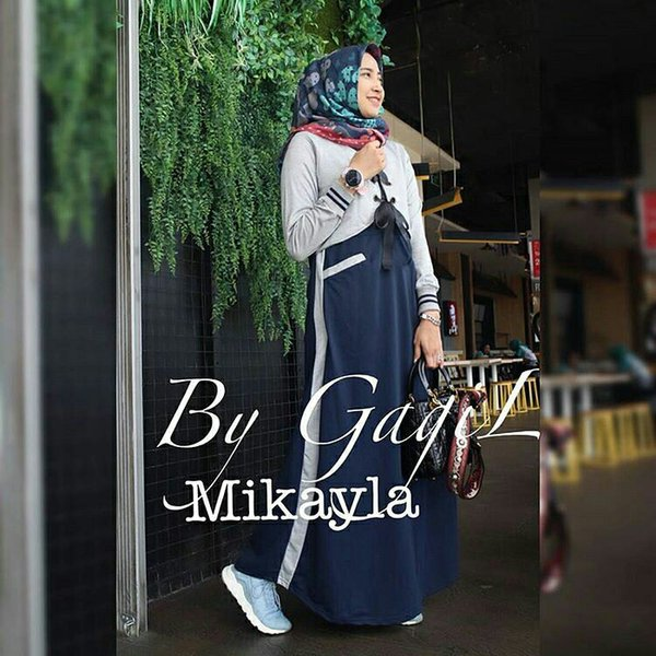 BARU BAJU HIJAB MODEL BARU  GAMIS LUCU  LONG DRESS MURAH  MIKAYLA DRESS