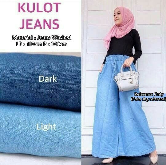 Celana Kulot Jeans Terlaris