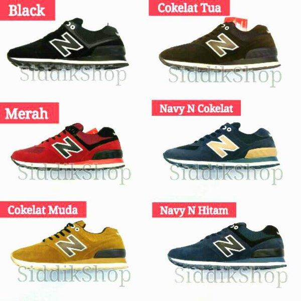 Ready Stok Sepatu New Balance 574 Size 39-43 Import Made In Vietnam With Boc Murah